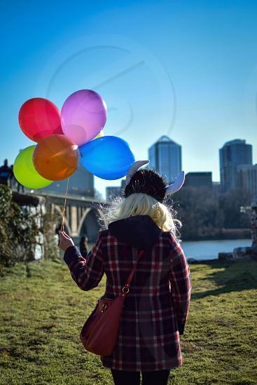 Balloons and props -Washington DC US photo