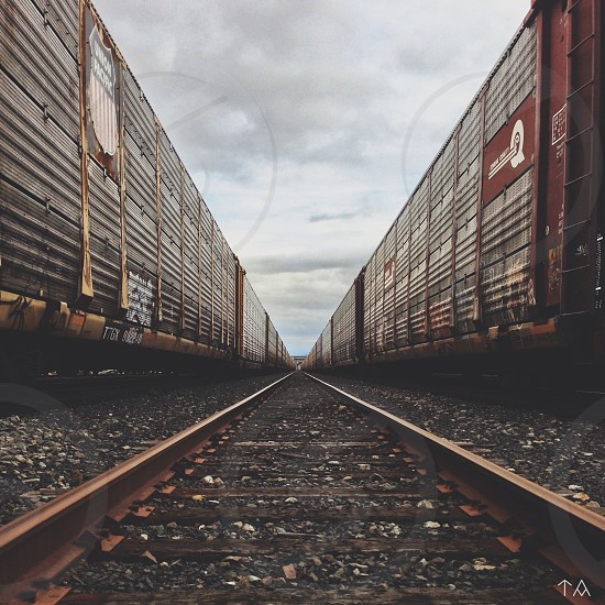 black red train car photo