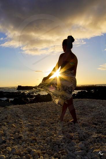 Sunset walk in paradise photo