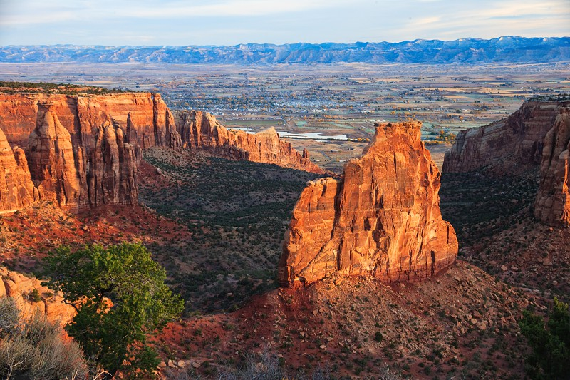 Grand Junction from Colorado National Monument. photo