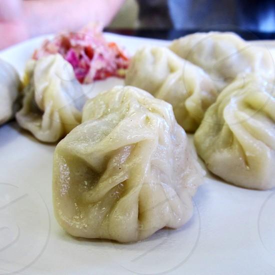 Steamed dumpling buuz photo