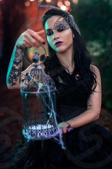 Lips lip makeup violet portrait fantasy photo