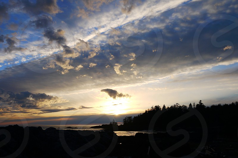 Enjoying the spring sunset in Tofino BC Canada photo