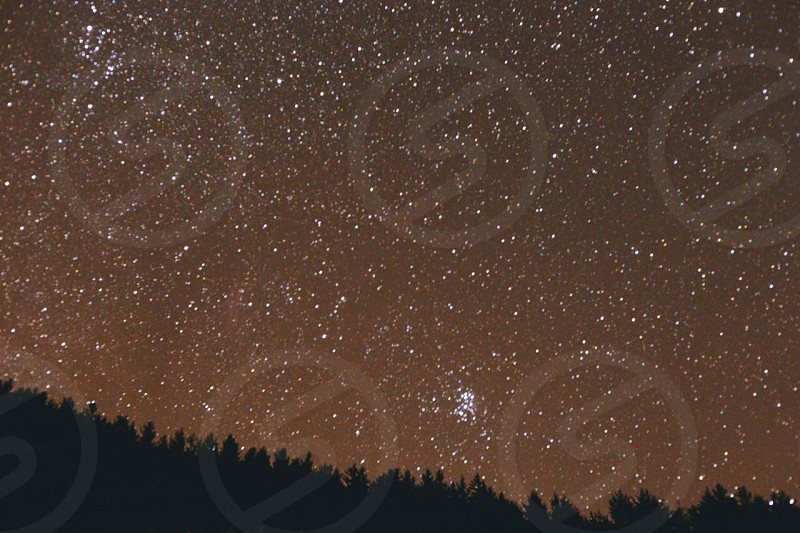 black night sky photo