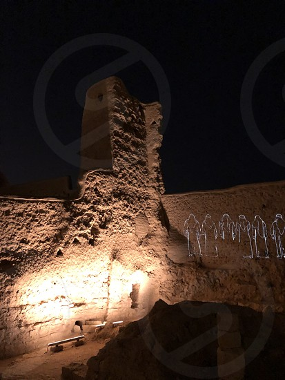 Arab architecture and landscapes. Beautiful lighting of ancient buildings. photo