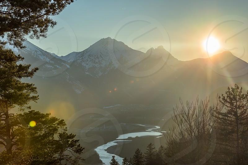 Last Light over the Alps photo