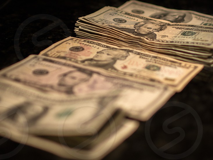 banknotes on surface photo
