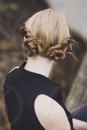 Fashion girl hair photo