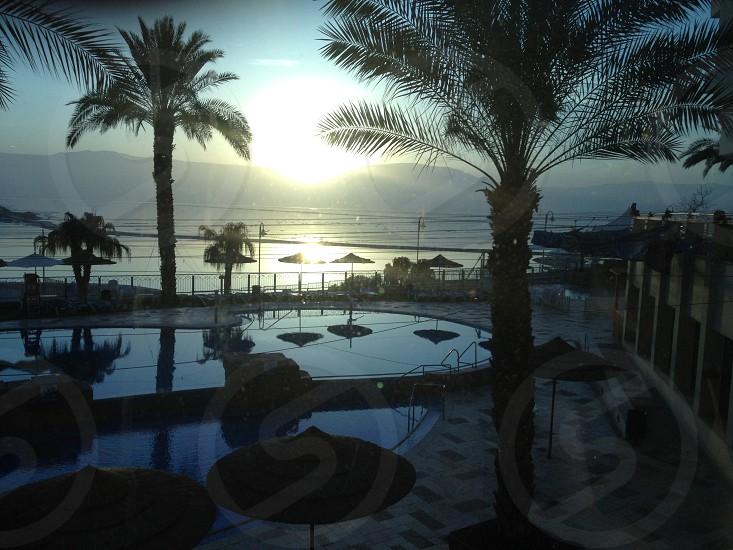 Sunrise Dead Sea Israel photo