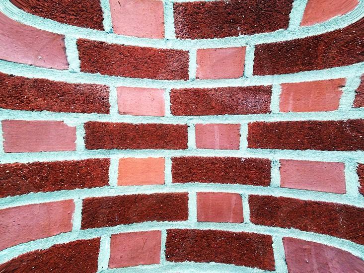 brown and pink bricks photo