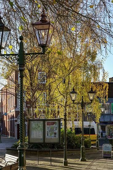 HORSHAM WEST SUSSEX/UK - NOVEMBER 30 : View towards the town centre in Horsham West Sussex on  November 30 2018 photo