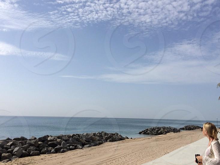 Palm Beach Clouds meet sand photo