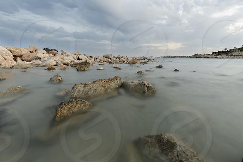 Creek of Morro Blanc in Campello Alicante province Spain. photo