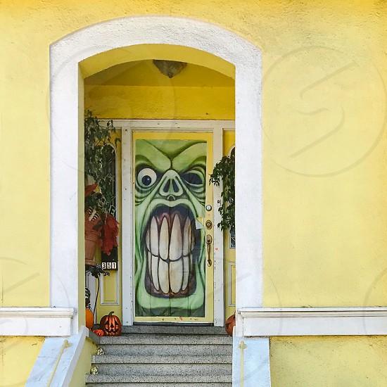 Halloween decorated house photo
