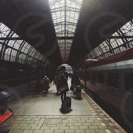 subway train station photo
