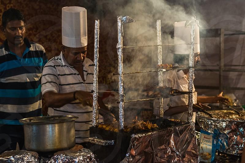 Street foods at the Hindu festive season photo