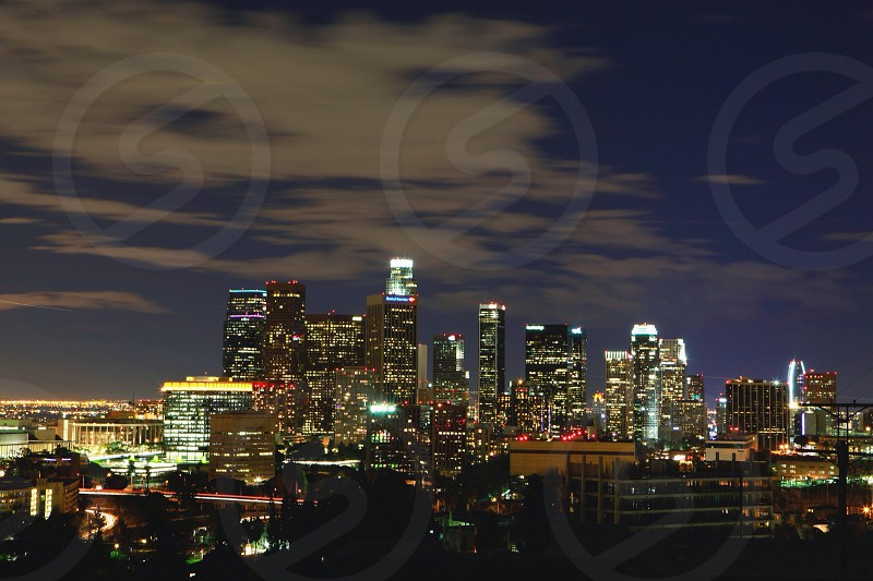 view of the big city at night photo