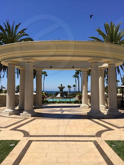 white round pavilion with columns photo