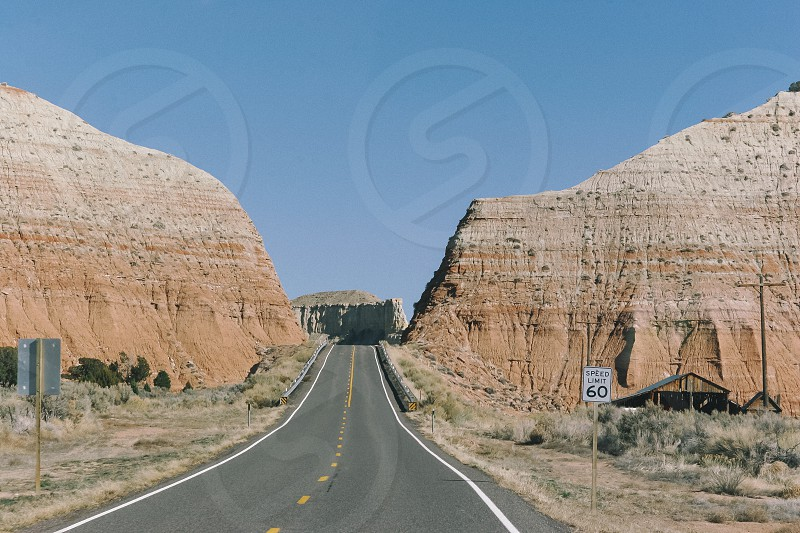 road wander explore travel desert photo
