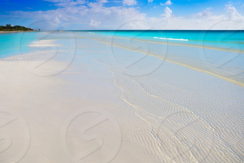 Holbox Island turquoise beach in Quintana Roo of Mexico photo