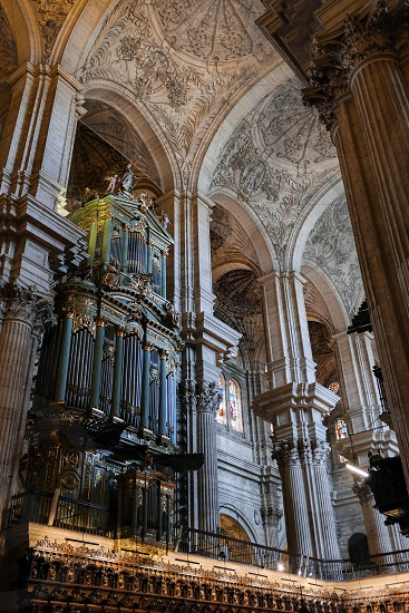 MALAGA ANDALUCIA/SPAIN - JULY 5 : Interior View of the Cathedral of the Incarnation in Malaga Costa del Sol Spain on July 5 2017 photo