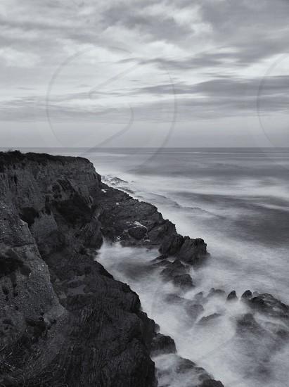 mountain sea view photo
