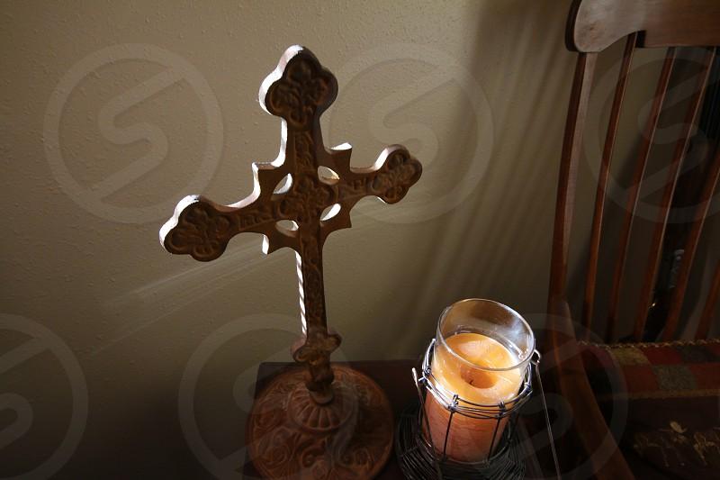 Cross Candle Light Sunbeam Cross Light photo