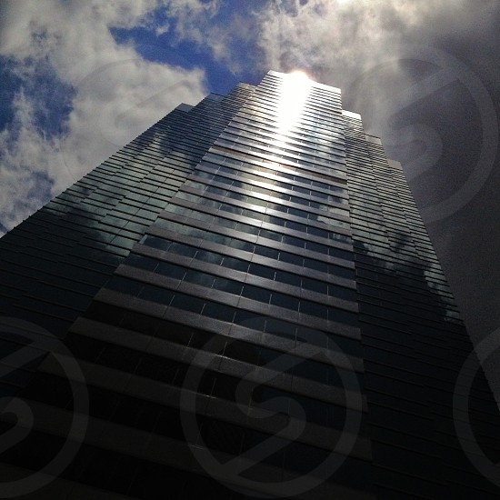 blue and black high rised building photo