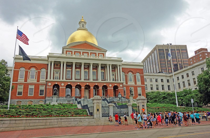 Massachusetts State House capitol building in Boston MA photo