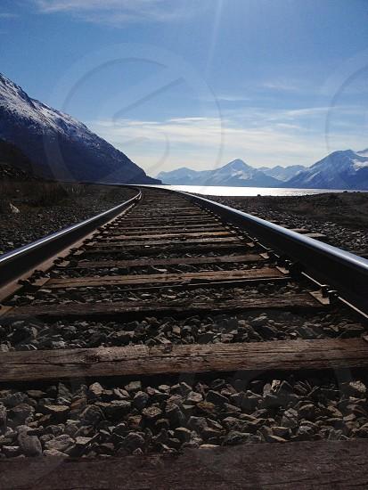 Alaskan railroad. photo