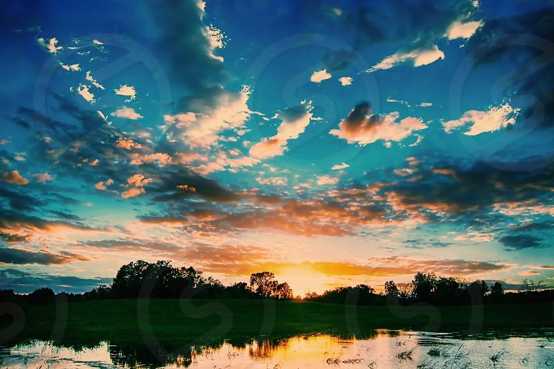 Summer Sunset in Minnesota  photo
