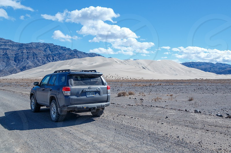 Back country travel to reach Eureka Dunes in Death Valley National Park. photo