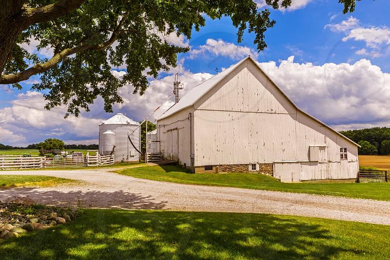 Idyllic farm scene in mid-west USA photo