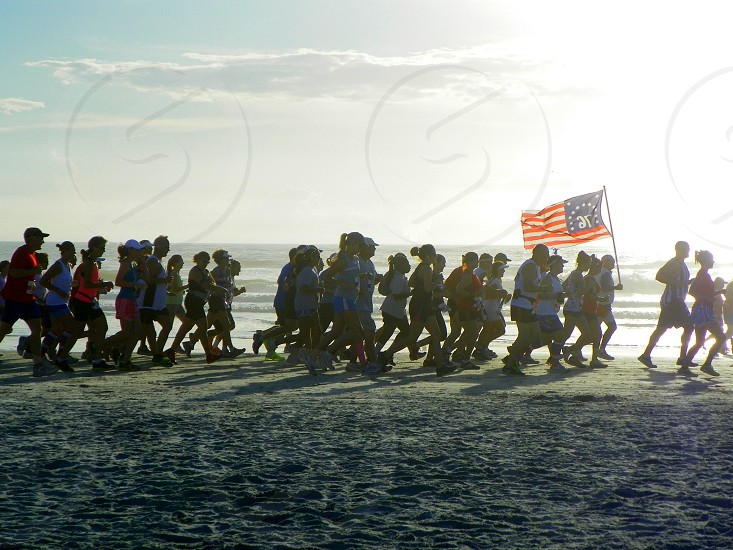 Runners at the Firecracker 10 miler. Daytona Beach FL photo