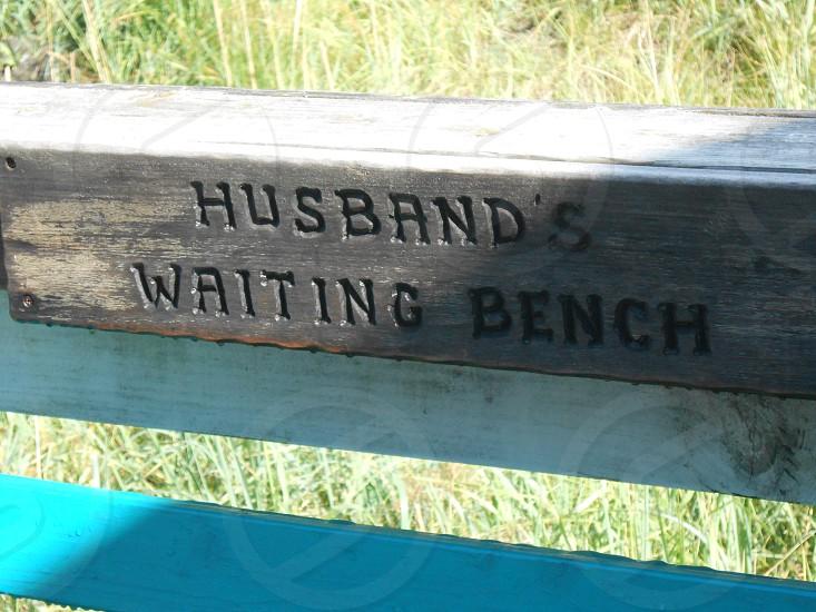 Bench in Homer Alaska photo