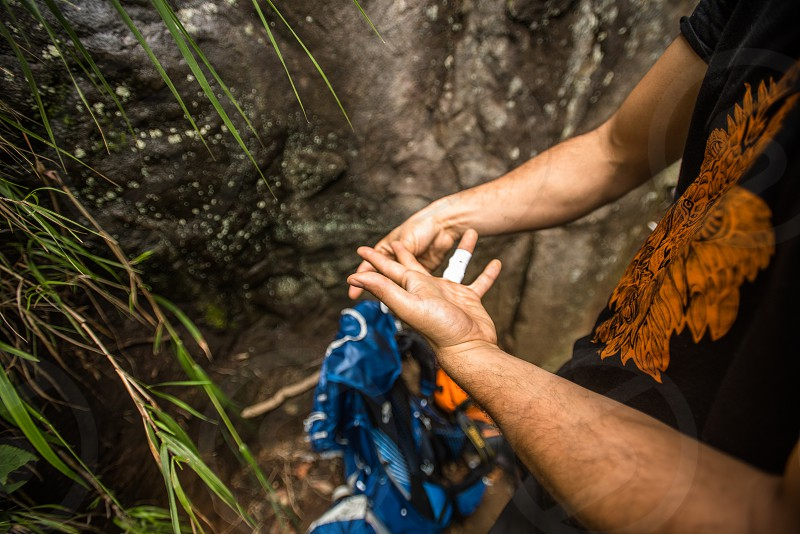Rock Climbing adventure in the Mexican outdoors  photo