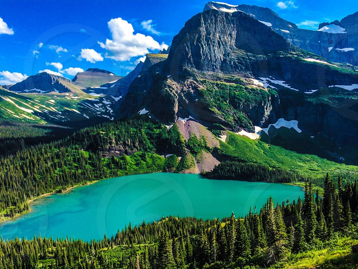 Glacier National Park Going to the sun Road Logan Pass Grinnell Lake travel adventure  photo