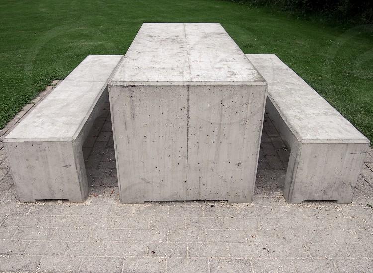 minimalistic picnic area photo