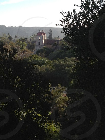 The mission from above photo