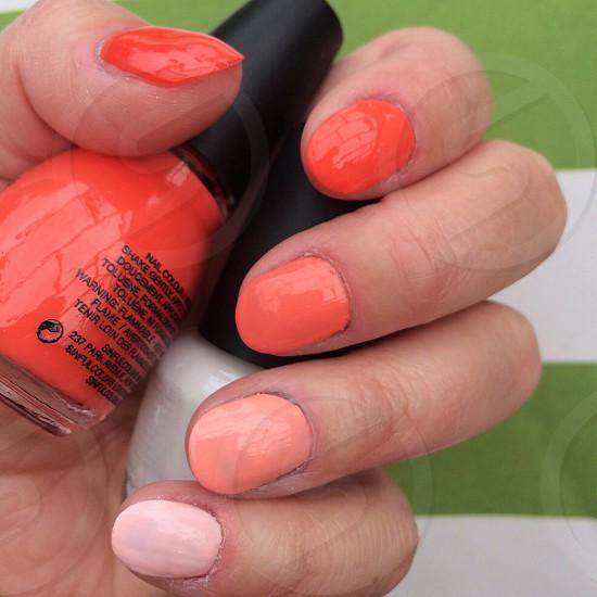Orange ombré nails photo