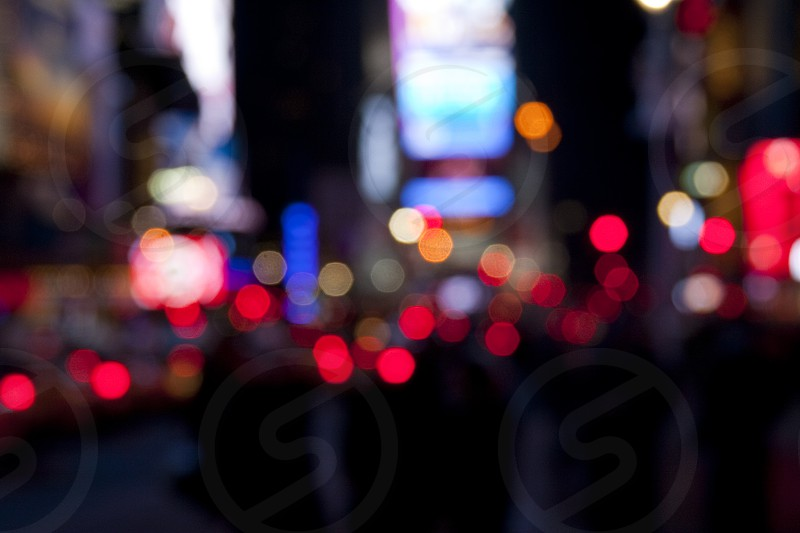 Times Square at Night Blurred photo