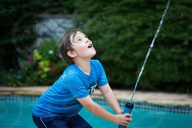 Water gun summer boy fun photo