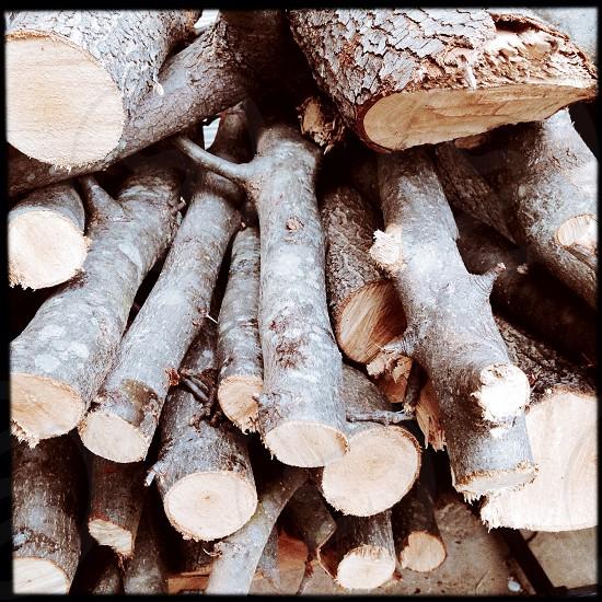 Firewood close up photo