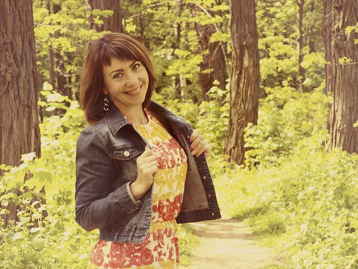 Cheerful girlfriend.  photo