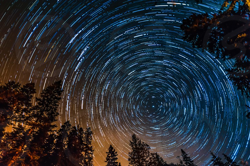 Greenwater Washington north star star trails photo