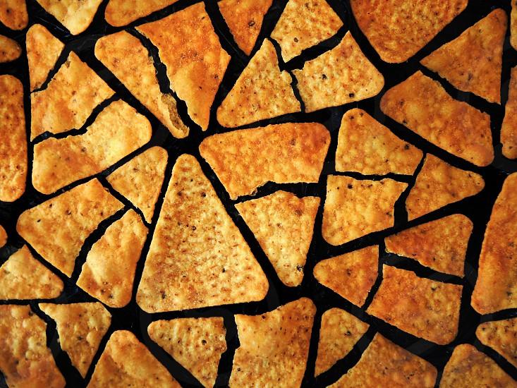 brown nacho chips photo