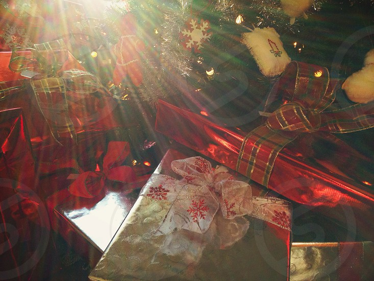 red wrapping paper photo