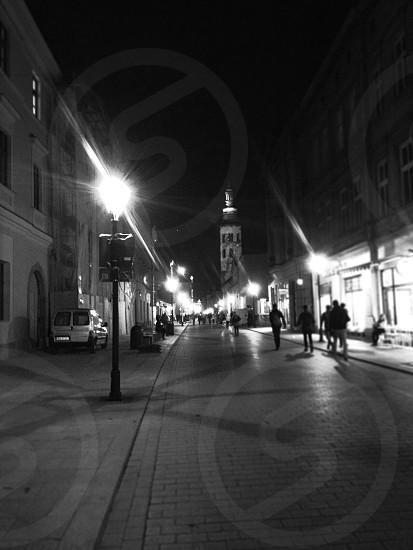High street Kraków . Autumn  photo