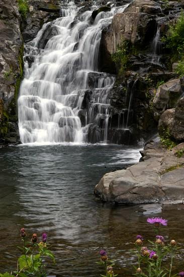 Waterfall. Cascade. photo
