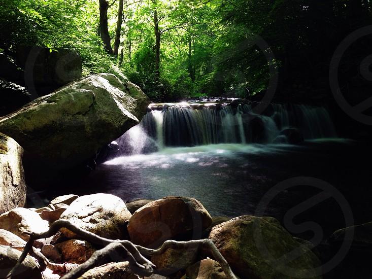 waterfalls panoramic photography photo